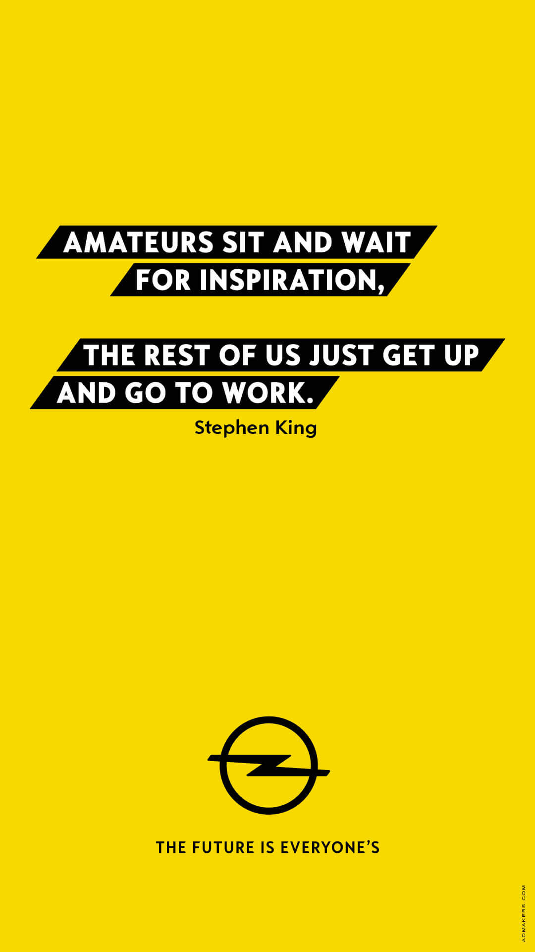 Amateurs sit and wait for inspiration, the rest of us just get up and go to work.