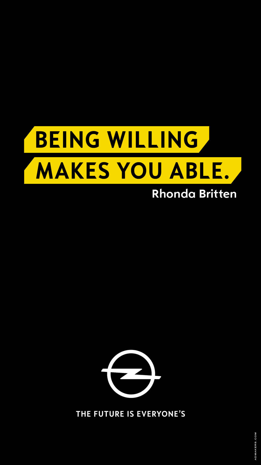 Being willing makes you able.