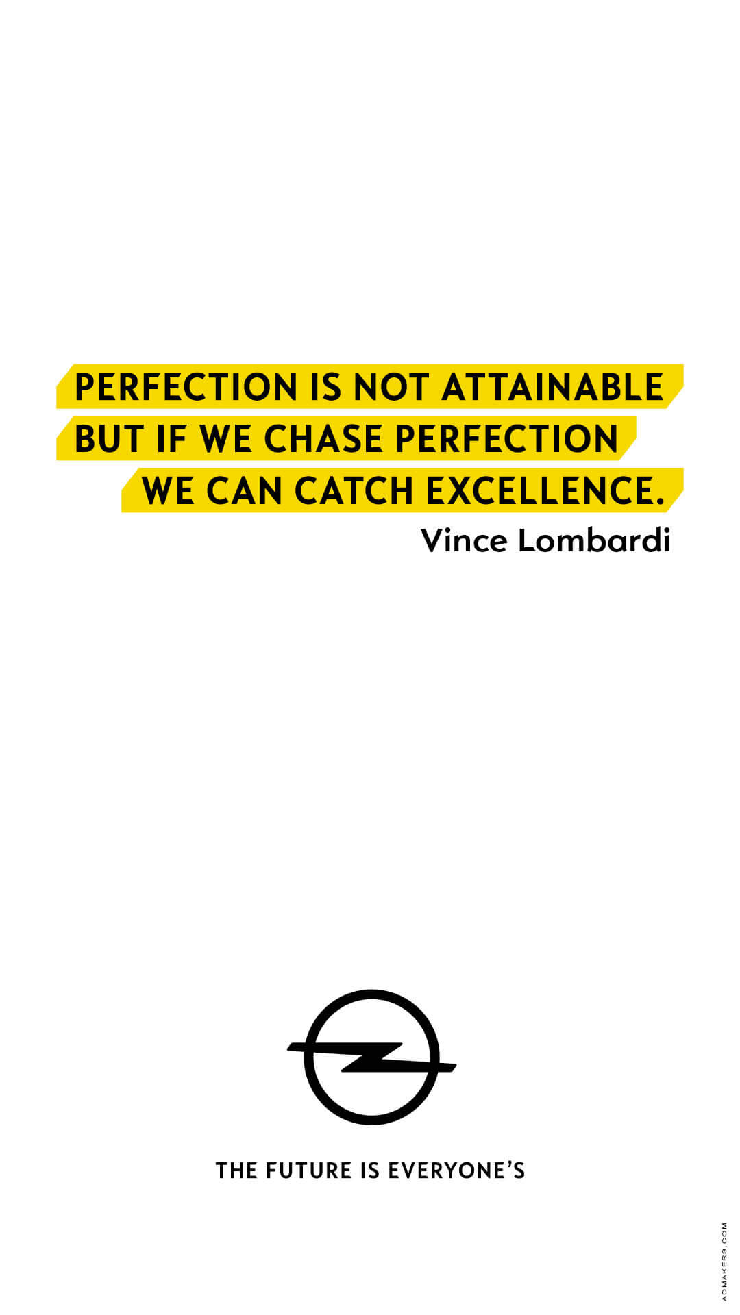 Perfection is not attainable but if we chase perfection we can catch excellence.
