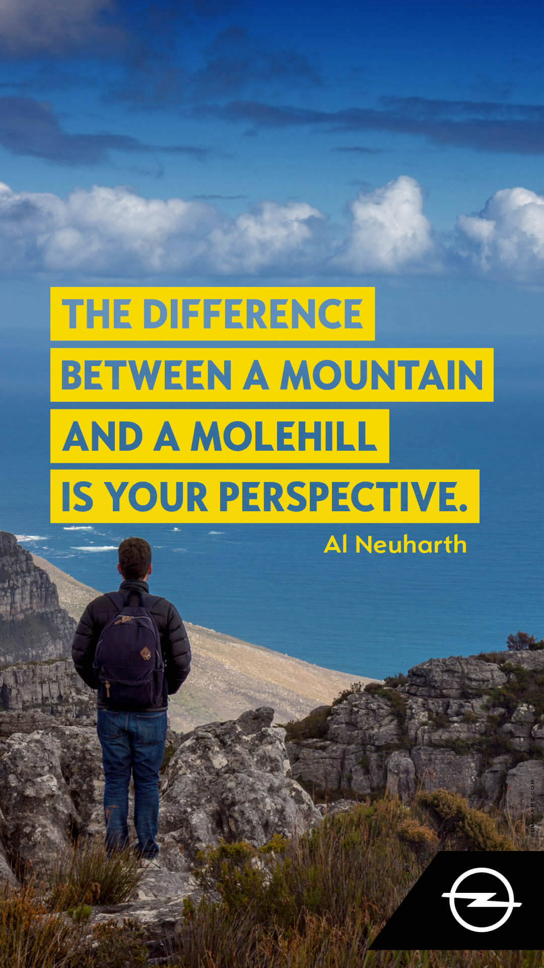 The difference between a mountain and a molehill is your perspective.