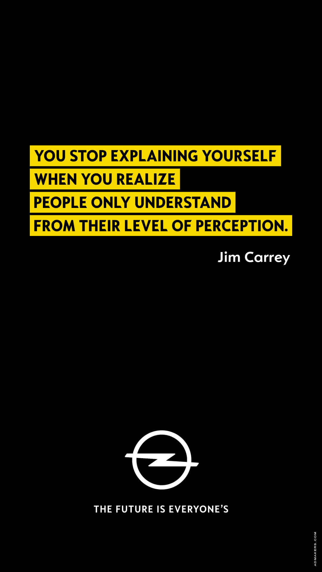 You stop explaining yourself when you realize people only understand from their level of perception.